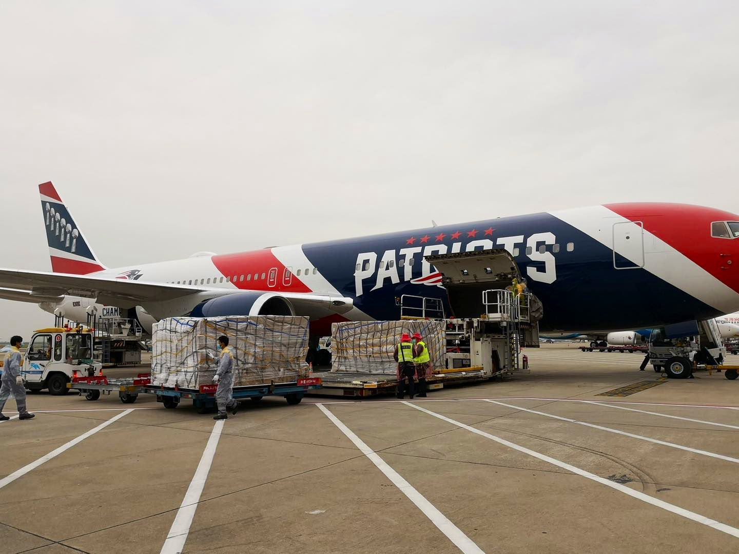 Patriots Plane Flys To China To Retreive N95 Masks